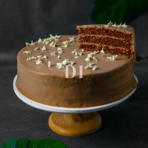 Dark Chocolate Cake Slice