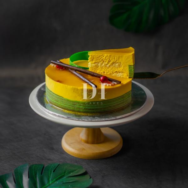 Mango Mousse Cake Slice