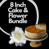 8 Inch Cake & Flower Bundle Cover Photo