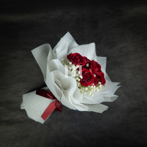 Cloud 9 Rose Spray with Baby Breath Bouquet