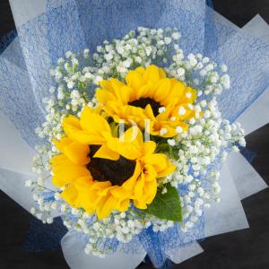 Sun Burst Sunflower Bouquet Zoom In