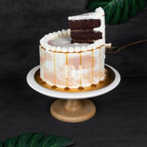 Caramel Chocolate Cake Side