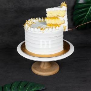 Lemon Passionfruit Cake Side